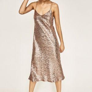 Zara Long Sequinned Dress